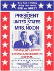 1972 President Nixon Re-election See & Greet Homecoming Mini- Poster or Flyer