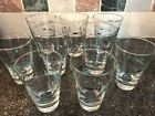 Lot of 9 Mid Century Modern Drinking Glasses Libbey Mediterranean Atomic Fish