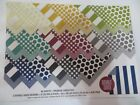 8x8 Dots Stripes Swirls Jewel Colors Double Sided Scrapbook Craft Card Papers