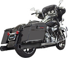 Bassani Black 4 DNT Straight Exhaust Mufflers 99 16 Harley Touring FLHX FLTR