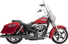 Bassani 2 1 Black 4 Road Rage Exhaust for 12 16 Harley Dyna Switchback FLD
