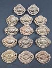 Architectural Salvage Small Oval Floral Design Drawer Pull Handles Set of 14