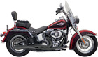 Bassani Black Road Rage Mega Power Short 2 1 Exhaust for 00 17 Harley Softail