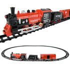 20PCS Electric Christmas Train Track Set Kids Children Toy Light Sound Xmas Gift