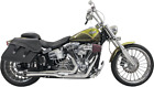 Bassani Chrome 2 1 Short Road Rage Exhaust for 08 17 Harley Breakout Rocker FXSB