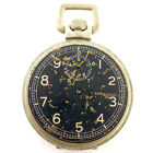 ELGIN 42249029 15 JEWELS BLACK DIAL AND SILVER POCKET WATCH FOR PARTS OR REPAIRS