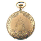 ELGIN 04303317 .18189477 WHITE DIAL AND GOLD POCKET WATCH FOR PARTS OR REPAIRS