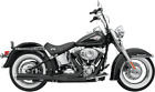 Bassani Black 2 1 Road Rage Long Exhaust for 86 17 Harley Softail FXS FLSTF FXST