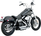 Vance  Hines Chrome Shortshots Staggered Exhaust for 12 17 Harley Dyna FXDL