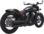 Vance  Hines Black Twin Slash Exhaust Mufflers for 15 18 Indian Scout