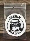 Black Jeepin It Real Jeep Vinyl Waterproof Weatherproof Sticker