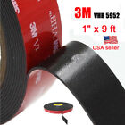 3M 1 x 9 ft VHB Double Sided Foam Adhesive Tape 5952 Automotive Mounting US