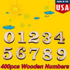 400pcs Wooden Alphabet Letters Numbers Kids Early Education Toys DIY Decors New