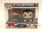 NIB The Flash and Superman 2 Pack Funko Pop 2018 Fall Convention Exclusive
