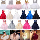 Flower Girl Dress Kids Tutu Pageant Wedding Party Gown Formal Princess Dress US