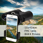 10x42 Binoculars Day Night Vision BAK4 Prism FMC Lens For Hunting Sports Hiking