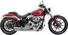Bassani Chrome 2 2 Pro Street Exhaust for 08 17 Harley Rocker Breakout FXSB FXCW