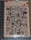 NEW Prima Clear Stamps LARGE 1 2 Lowercase Alphabets Timbres Transparents