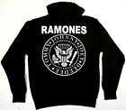 RAMONES Hooded Sweatshirt Distressed Logo Punk Rock Hoodie Adult Mens Sweater