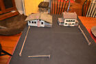 Antique Primitive 1930s Hand-Made Folk Art Log House, Cottage and Fence