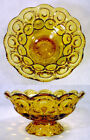 STARS Footed CANDY DISH Compote BOWL
