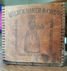 wood dovetail crate box old WALTER BAKER Woman premium #1 Chocolate vintage