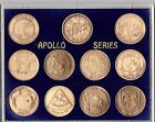 NASA APOLLO MANNED SPACE FLIGHT SERIES 11 SEALED ANTIQUE BRONZE COIN SET