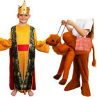 CHILDS KID NATIVITY KING AND RIDE ON CAMEL COSTUME WISE MAN FANCY DRESS CASPAR
