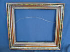 Antique Deep Walnut Shadowbox Picture Frame with Burl