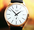 STUNNING BIG SIZE VINTAGE PIAGET WATCH IN 18K GOLD PLATED 37mm. CASE 1960's