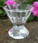 Sparkly Faceted Crystal Open Salt Dip Cellar Dish w Solid Base