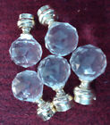 Lot of (5) Crystal Cut Glass Door Knobs