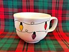 Christmas JUMBO MUG white FIESTAWARE string of lights FIESTA WARE SOUP CUP 18 OZ