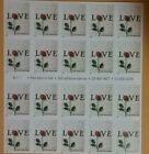 USP Stamps LOVE LETTER and RED ROSE 20 stamp 34c 3496 Nondenominational
