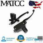 Pair 1″ 25mm Black Motorcycle Brake Master Cylinder Clutch Hydraulic Lever