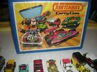 62 VINTAGE 70s Matchbox Cars Lot LESNEY Carrying Case