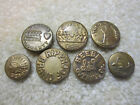 LOT OF 7 ANTIQUE / WORK CLOTHES/ OVERALL METAL BUTTONS