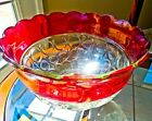 Clear crystal Punch Bowl set of 14 pieces cups