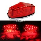 Red Lucas Type 525 Rear LED Stop Brake Tailight Lamp For Triumph BSA Cafe Racer