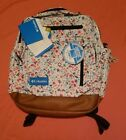 NWT Columbia Backpack Laptop Butterflies Flowers Dragonflies Christmas Gift
