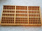 Antique wooden printers tray. Hamilton Mfg.  Type set wood drawer.