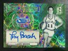 2017-18 Spectra Green Scope Refractor Autograph Larry Brown Auto 25