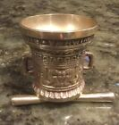 Vintage Solid Brass Apothecary Mortar and Pestle