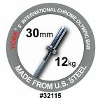 YORK 5 International Chrome Olympic Bar 30mm