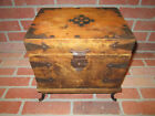 Vintage Antique Rustic Wood Box With Latch - 12.5