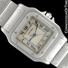 CARTIER SANTOS GALBEE Mens SS Steel Watch with Date - $5,000, Mint with Warranty