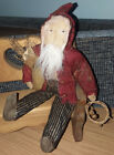 GRUNGY PRIMITIVE COUNTRY BELSNICKLE SANTA DOLL 11
