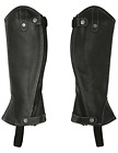 RTS women's leather chaps gaiters with contrast stitching, Womens, mit black