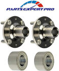 2 90 05 MAZDA MIATA REAR WHEEL HUBS  BEARINGS SET WITH 4 STUDS