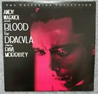 Andy Warhol Blood For Dracula Criterion Collection Laserdisc Horror OOP Rare HTF
